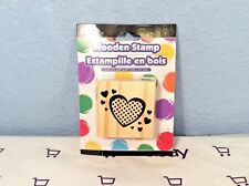 JOT Wooden Hearts Stamp New In Package (NIP)