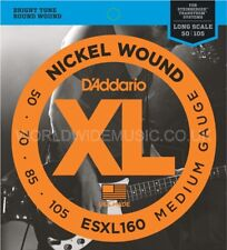 D'Addario ESXL160 Double Ball End Nickel Wound Bass Guitar Strings .050 -.105