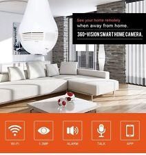 Home Security IP Camera Wireless 960P Wifi 360° Fisheye Panoramic Network LED