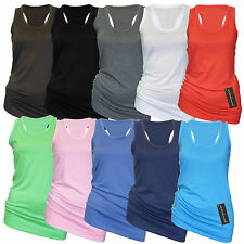 Damen Tops in 10 Farben - 2er Pack! Tank Shirts - Tops - Ärmelloses Trägerhemd