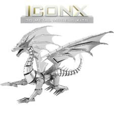 Fascinations Metal Earth ICONX Silver Dragon Laser Cut 3D Model ICX023