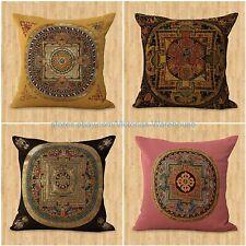 set of 4 decorative pillow cover cushion cover Tibetan Buddhism mandala