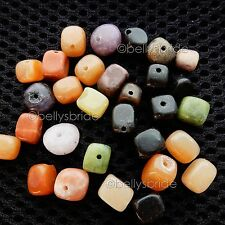 30 Mixed Natural Loose Gemstone Crystal Jewellery Making Nugget Beads 6mm - 10mm