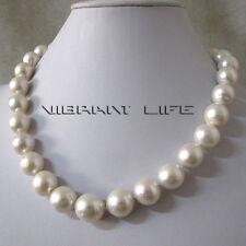 "18"" 12-14mm White AA+ kasumi Freshwater Pearl Necklace U"