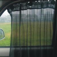 2Pcs Black Adjust Car Auto Window Curtain Sun Shade Suction UV Protection Side H