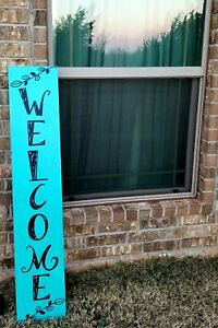 Welcome Sign Vertical Porch Leaner