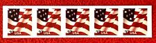 US Stamps SC#3632A 37c Flags Plate#S3333 Coil Strip of 5 CV:$5.25
