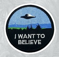 Moulder and Skully X Flies I want to believe sewn UFO car laptop sticker