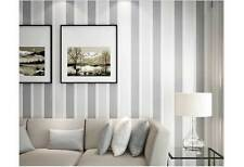 Classic modern striped GRAY wallpaper industrial shop fitting wall paper roll