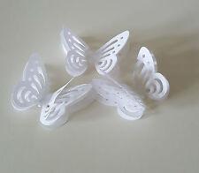 20 Capas Blanco 3D Butterflys Para La Decoración De Mesa De Boda Confeti Toppers/