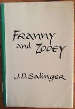 Franny and Zooey by J. D. Salinger (FIRST EDITION HARDCOVER EX-LIBRARY)