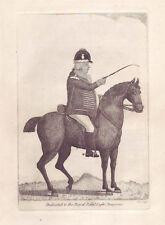 JOHN KAY original antique Gravure. M. John Adams, maître de la Royal..., 1797