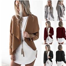 UK Womens Trench Slim Winter Warm Coat Short Wool Jacket Outwear Parka