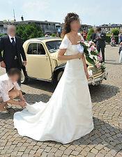 Bellissimo Vestito da Sposa Raso e Seta Taglia 40