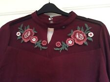 Pretty burgundy party top from New Look Size 16