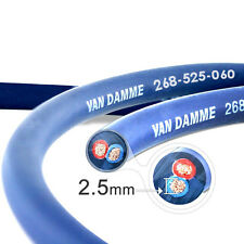 Van Damme Blue Series Studio 2x2.5mm Twin Axial Speaker Cable 1m - Unterminated