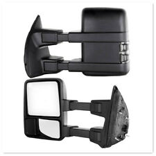 Tow Mirror For 99-07 Ford F250 F350 Super Duty Power Heated Smoked Turn Signal