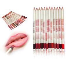 12Pcs/Set Lot 12 Colors Professional Lipliner Waterproof Lip Liner Pencil 15CM