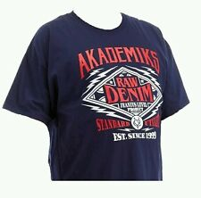 AKADEMIKS 5XL New Mens Blue Bronx Short Sleeve T-Shirt MSRP $28 Hoodies & More