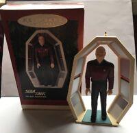 Hallmark Star Trek Ornament Captain Jean Luc Picard The Next Generation 1995