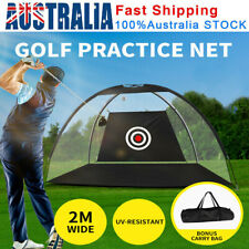 2M Golf Practice Net Hitting Net Driving Netting Chipping Cage Training Aid +Bag