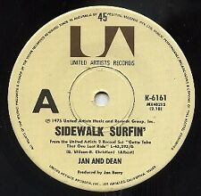 "JAN & DEAN   Rare 1975 Aust Promo Only 7"" OOP Single + Insert ""Sidewalk Surfin"""