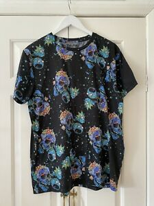 Rick and Morty T Shirt XL Black Top Adult Swim Difuzed Short Sleeve Top Casual