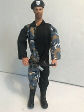 """ARMY  FIGURINE 12"""" TALL WITH HAT & RIFLE UNBRANDED"""