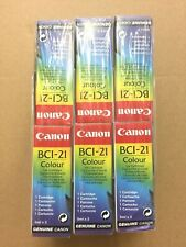 ➔ LOT 6x pack Canon BCI-21 Color Genuine New Apple Color StyleWriter 2400/2500