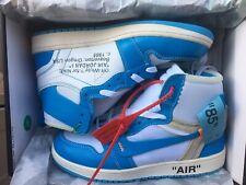 Nike air jordan 1 x off white Blue Taglia 38
