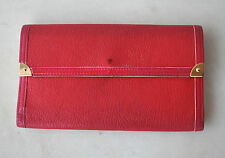 Louis Vuitton LV Rare 2005 Vintage Red Leather Wallet Made in France Authentic