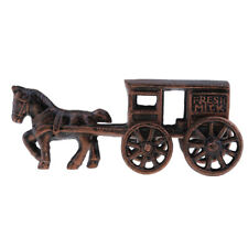 Outdoor Garden Ornaments - Steel Carriage Sculpture Statue for Home Office