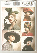 Vogue Sewing Pattern 7464 Hats - Five Vintage Style Hats - 1930's