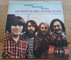 CREEDENCE CLEARWATER REVIVAL Run through the jungle 45t ORIGINAL FRANCE 1970