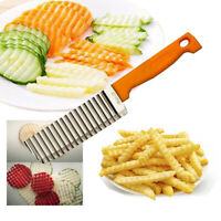 Crinkle cutter stainless steel potato wavy Knife slicer Cutting French fry make
