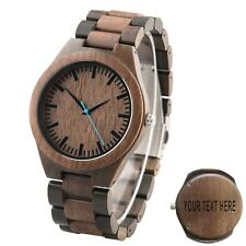 Custom Wood Watch Engraved Gift for Him Walnut Watch Christmas Gift for Men