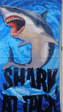 Shark Attack Aquatic Velour Beach Bath Towel 30x60
