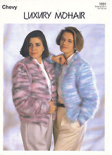 Chevy Luxury Mohair KNITTING PATTERN roll neck jacket 4316