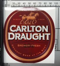 Carlton Draught Sticker Beer Car Wall Slab Bottle Melbourne Bar - Full Colour