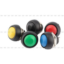 5Pcs Mini Round Switch 12mm Waterproof Momentary Push Button Switch 250V 3A