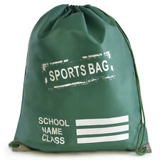 Unisex School Waterproof Drawstring Rucksack For PE, Shoes And Books