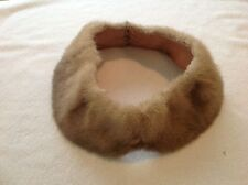 "Vintage Ladies Real Fur Collar Very Clean and Nice 33.75"" long Lined"