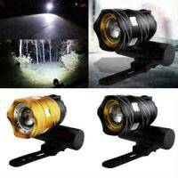 Rechargeable 1200mAh LED MTB Bicycle Light Bike Front With /USB Headlight N C5L0