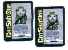 Taliban Whacker SEAL ODA SAS JTF2 WAR TROPHY SP OPS VeIcrô SSI: Cat-Shit-One X 2