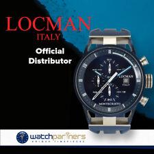 Locman Watch Montecristo Classic Quartz Chronograph 44mm Case 10atm Black Dial