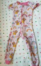 Carters Baby Girl Zip Up Short Sleeve Animals Pajamas Size 3t