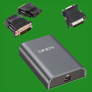 USB Display Adaptor DVI-I with DVI to VGA Adaptor for Monitor LCD Projector