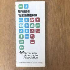 Vintage 1975 AAA Oregon Washington Road Map