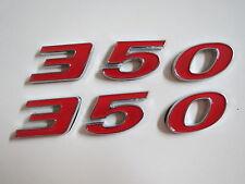CHEVROLET 350 ENGINE ID FENDER HOOD SCOOP QUARTER TRUNK EMBLEMS - RED