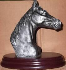 HORSE HEAD BUST ON BASE RESIN FIGURINE